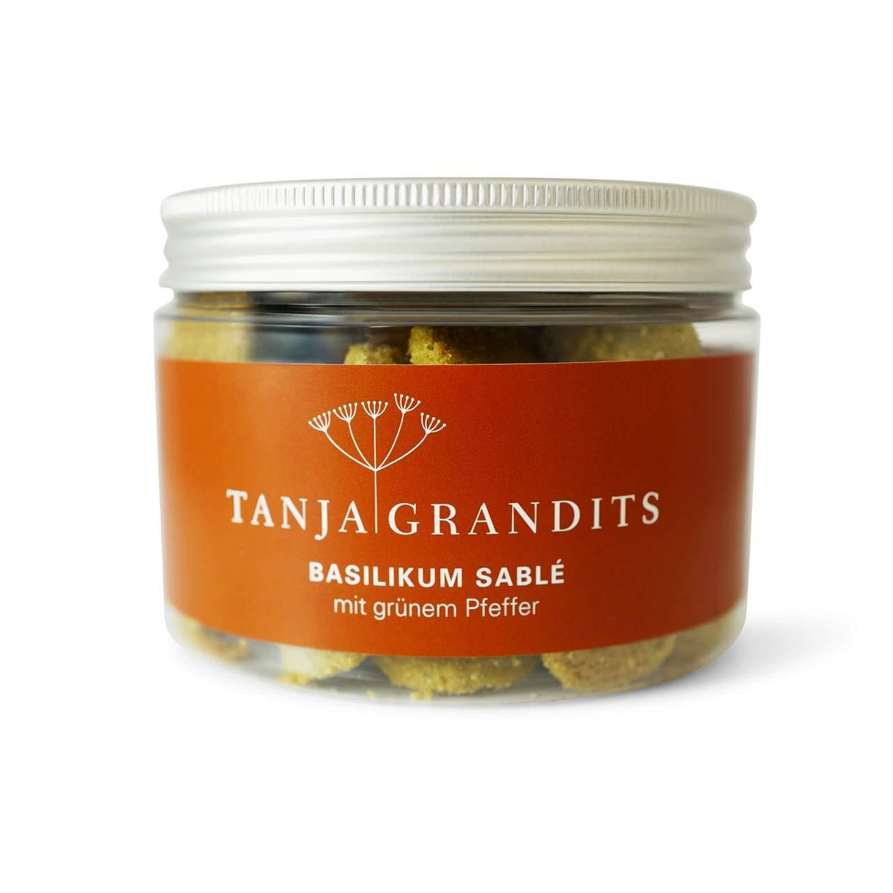 Tanja Grandits: Basilikum Sablé mit grünem Pfeffer