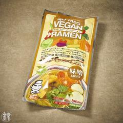 Veganes Ramen mit Miso 260g und Brühe (2 x 80g Nudeln, 2 x 50g Brühe)